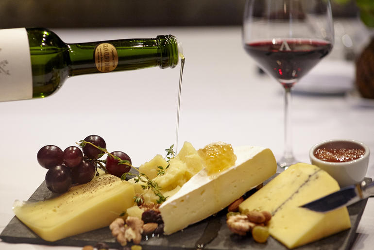 Algodon Wine and cheese plate